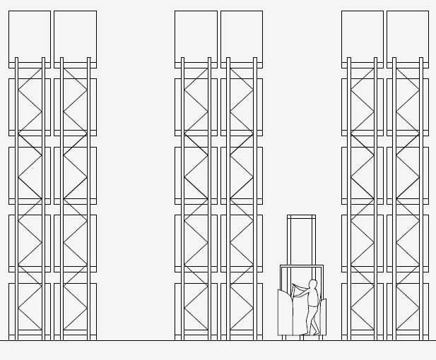 Narrow Aisle Racking (Articulated Truck)