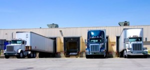park trucks tail-to-tail for cargo theft prevention